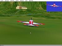 Ukázka obrazovky simulátoru Aerofly